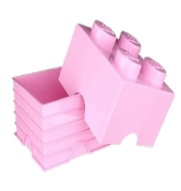 Delicieux 40031738 LEGO Storage Brick 2 X 2   Light Pink